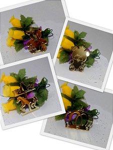 Aplique Espelhado Dourado 1 uni - Vários modelos