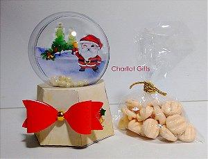 Globo de Neve com Biscoitos Amanteigados