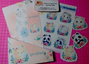 WOODLAND FOX - kit scrapbook