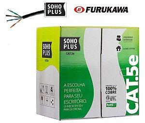 CABO DE REDE PRETO CAT5E FURUKAWA SOHOPLUS  - 1 METRO