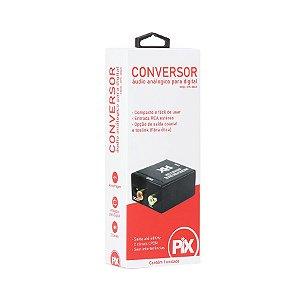 Conversor Áudio Analógico Rca Para Digital Ótico Toslink - Pix 075-0865
