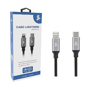 Cabo USB Tipo C Para Lightning 1,20 Metros 2.4A Premium 5+