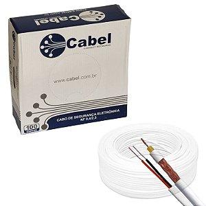 Cabo Coaxial 4mm Bipolar, 95% de malha | Cabel -100 Metros