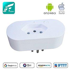 Tomada Inteligente Wi-fi 10a App Tuya - Jwcom SA-202C