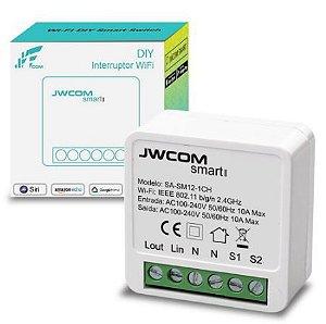 Mini Interruptor Wi-Fi Tuya 1 Canal 10a - Jwcom SA-SM12-1CH
