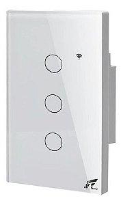 Interruptor Smart Wi-fi 3 Sessões Touch, App Tuya - Jwcom SA268C