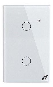 Interruptor Smart Wi-fi 2 Sessões Touch, App Tuya - Jwcom SA268B