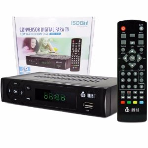 Conversor Tv Digital  Isdbt Itv-200 Com Visor Led Hdmi E UsB