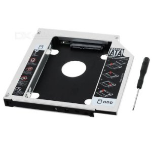 Adaptador Dvd Para Hd Ssd Notebook Drive Caddy 12.7mm Sata