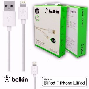 Cabo Carregador Lightning Belkin Iphone 5 5s 5c 6 7 Ipod Ipad - 2 Metros