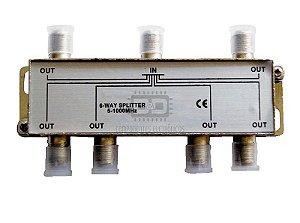 Divisor De Sinal 1x6 Baixa Frequência 5-1000Mhz Antena UHF VHF