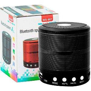 Caixa Som Bluetooth Portatil Mp3 Fm Sd WS-887