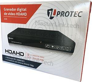 Dvr Tríbrido JL Protec 4 Canais AHD-M NUVEM 720p JL-AHD3004