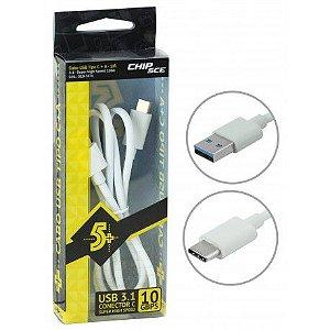 CABO USB TIPO C  Para USB MACHO 3.1 10GB - 1 METRO
