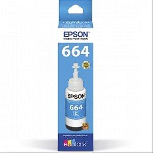 Refil de Tinta Epson 664 Original 70ML CIANO (C) - L355 L365