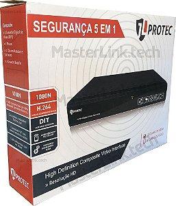 DVR 5 EM 1 PENTAFLEX JL PROTEC 8 CANAIS 1080N NUVEM - AHD, HD CVI, HD TVi, IP e ANALÓGICA