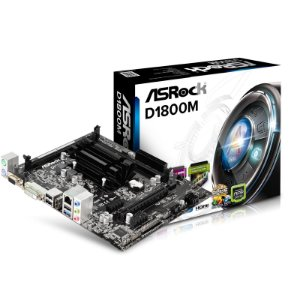 Placa Mãe Asrock Micro ATX D1800M Com Intel Celeron Dual Core Integrado