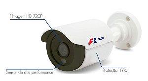 Câmera Bullet Abs 720P IR 2.8mm Ip66 4 em 1 Focusbras FS-PBF1MC