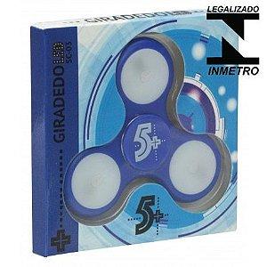 Fidget Hand Spinner Com Leds, Azul - Homologado Inmetro