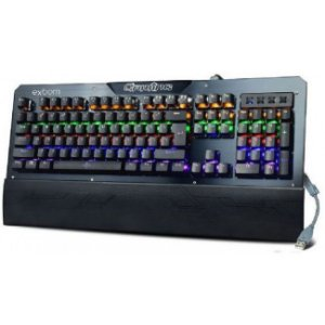 Teclado Gamer Mecânico Led Rgb, Switch Blue, Abnt - Exbom Bk-Gx1