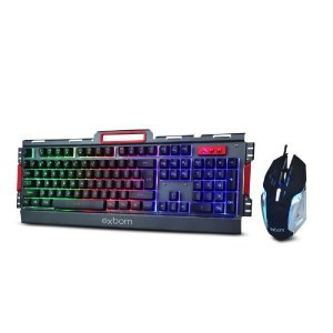 Kit Gamer Teclado E Mouse Com Led Bk-g3000 Exbom - Preto