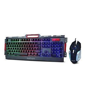 Kit Gamer Teclado e Mouse Com LED e Acabamento Em Metal Bk-G3000