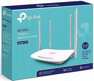 Roteador Wireless Tp-link Archer C50, 4 antenas Dual Band AC1200