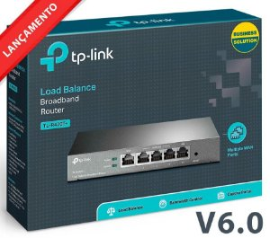Roteador Load Balance Tp-Link Tl-r470t+ V6.0 - Até 4 Links