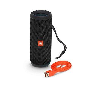 Caixa de som Portátil Bluetooth JBL Flip 4, Aprova d´água - Preta