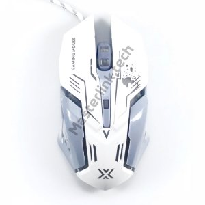 Mouse Gamer Rgb 6D 3200dpi, Infokit Xsoldado Gm-600 (Branco)