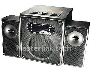 Caixa De Som Bluetooth C/ Subwoofer 2.1 NE-222 50w Rms Bivolt