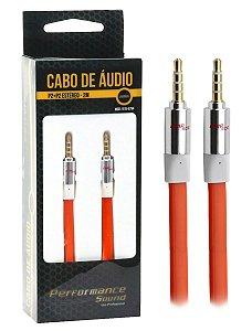 Cabo De Áudio P2 P2 Blindado Estéreo 2 Metros - Profissional