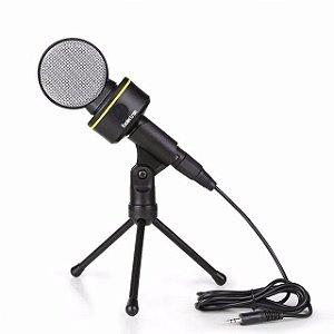 Microfone P2 Condensador Estúdio Com Fio 1.8m Sf-930