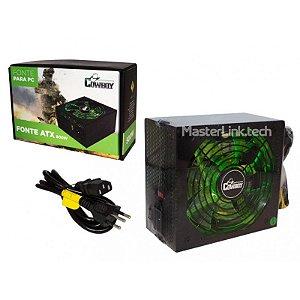 Fonte Atx Gamer 500w Real Com Cabo De Força - Cowboy KP-534