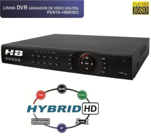 DVR 16 Canais Full HD 1080P COM DETECÇÃO FACIAL 5 em 1 HB6216 - HB TECH