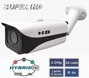 Câmera Bullet Super HD 4MP 1/3 3.6mm Híbrida 4 em 1 - HB Tech HB-301
