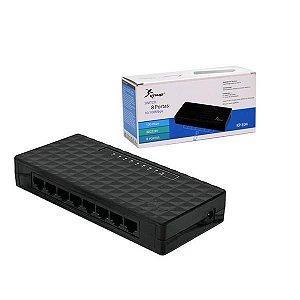 Switch 8 Portas 10/100 Mbps KP-E04