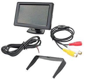 Tela Lcd 4.3 Polegadas Portátil Monitor Veicular Digital