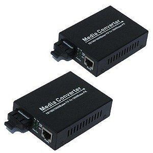 Conversor De Mídia Gigabit 20km 10/100/1000 Monomodo - Par