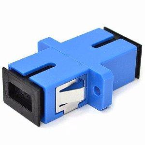 Adaptador Acoplador Óptico Simplex SM Sc/Upc (Azul) - 1 Unidade