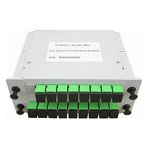 Splitter Óptico Modular Plc 1 x 16 Balanceado Sc/Apc