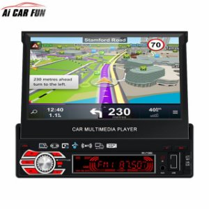 Central Multimídia Com espelhamento android Tela Retratil 7 Pol. e Gps RK-7158G