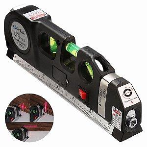 Nível Laser Profissional Trena Level Pro 3 Estágios Nivelador