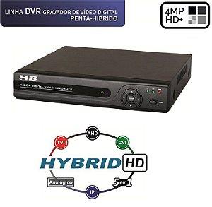 DVR 4 Canais HD 4 Megapixel C/ Detecção Facial 5 em 1 HB6304 - HB TECH