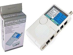 Testador De Cabos Multifuncional Rj45 RJ11 Usb e bnc - 4 em 1