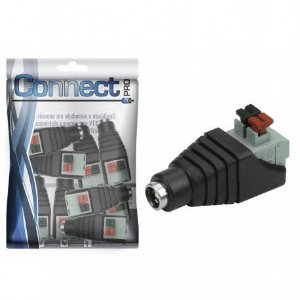 Conector P4 2.5mm Borne Fêmea Engate Rápido - 10 Unidades