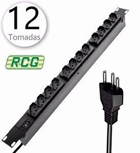 Régua Filtro De Linha Para Rack Com 12 Tomadas - RCG