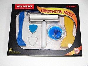 Kit Espatulas + Rolo 10cm + Ventosa 9 Pçs - Yaxun Yx-687
