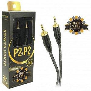 Cabo P2 X P2 Premium M X M 1,20 Metros Black Series 24k - 018-0430