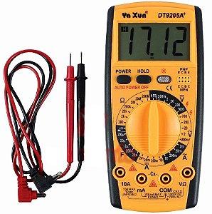 Multímetro Digital Com Capacímetro E Beep Yaxun YX-9205a+ Profissional